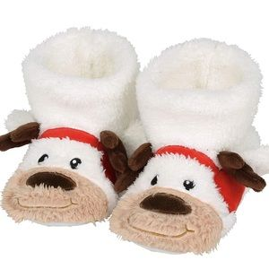 NWT Kids Puppy Reindeer Christmas/Holiday Slippers